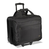 CityGear Rolling Travel Laptop Case, Nylon, 18 x 10 x 15, Black/Silver