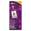 Avery Secure Top Clip-Style Badge Holders, Vertical, 2 1/4 x 3 1/2, Clear, 50/Box