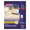 Avery Folded Clean Edge Business Cards, Inkjet, 2 x 3 1/2, White, 120/Box