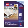 Avery Tri-Fold Brochures for Inkjet Printers, 8 1/2 x 11, White, 100 Sheets/Box