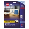 Avery True Print Clean Edge Business Cards, Inkjet, 2 x 3 1/2, Ivory, 200/Pack