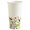 Deerfield Printed Paper Cold Cups, 20 oz, 50 Cups/Pack, 20 Packs/Carton