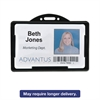 Advantus Horizontal ID Card Holders, 3 3/8 x 2 1/8, Black, 25 per Pack