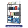 Alera BA Plus Wire Shelving Starter Kit, 4-Shelf, 48 x 18 x 72, Black Anthracite+