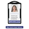 Advantus Vertical ID Card Holders, 2 1/8 x 3 3/8, Black, 25 per Pack