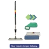 "Boardwalk Microfiber Mopping Kit, 18"" Mop Head, 35-60""Handle, Blue/Green/Gray"