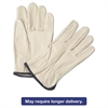 4000 Series Leather Driver Gloves, White, X-Large, 12 Pairs