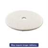 "Standard Polishing Floor Pads, 24"" Diameter, White, 5/Carton"