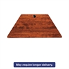 Valencia Series Training Table Top, Trapezoid, 47-1/4w x 23-5/8d, Cherry