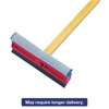 "General-Duty Squeegee, 8"" Sponge/Rubber Blade, Black/Red, 21"" Metal Handle"