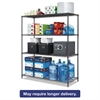 All-Purpose Wire Shelving Starter Kit, 4-Shelf, 60 x 24 x 72, Black Anthracite+