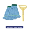 "Boardwalk Looped-End Mop Kit, Medium, 60"" Metal/Polypropylene Handle, Blue/Yellow"
