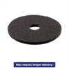 "Standard Stripping Floor Pads, 21"" Diameter, Black, 5/Carton"