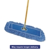 "Looped-End Dust Mop Kit, 24 x 5, 60"" Metal/Wood Handle, Blue/Natural"