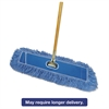 "Boardwalk Looped-End Dust Mop Kit, 36 x 5, 60"" Metal/Wood Handle, Blue/Natural"