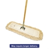 "Cut-End Dust Mop Kit, 24 x 5, 60"" Wood Handle, Natural"
