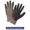 Anchor Brand Nitrile-Coated Gloves, Gray/Black, Nylon Knit, Medium, 12 Pairs