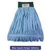 Boardwalk Microfiber Mop Head, Wet Mop, Medium, Blue