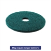 Boardwalk Standard 16-Inch Diameter Heavy-Duty Scrubbing Floor Pads, Green