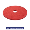 "Standard Buffing Floor Pads, 21"" Diameter, Red, 5/Carton"
