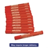 Lumber Crayons, 4 1/2 x 1/2, Red, Dozen