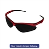 Nemesis Safety Glasses, Red Frame, Smoke Lens