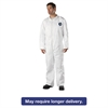 DuPont Tyvek Coveralls, Open Wrist/Ankle, HD Polyethylene, White, 3X-Large, 25/Carton