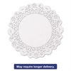 "Hoffmaster Brooklace Lace Doilies, Round, 5"", White, 2000/Carton"