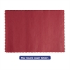 Hoffmaster Solid Color Scalloped Edge Placemats, 9 1/2 x 13 1/2, Red, 1000/Carton