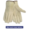 Memphis Economy Leather Driver Gloves, Medium, Beige, Pair