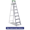 Louisville #428 Folding Aluminum Step Ladder, 8 ft, 7-Step, Green