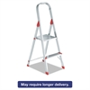 Louisville #566 Folding Aluminum Euro Platform Ladder, 2-Step, Red
