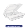 Large Foam Carryout, Food Container, 3-Compartment, White, 9-2/5x9x3