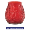 "Victorian Filled Glass Candles, 60 Hour Burn, 3 3/4""h, Red, 12/Carton"