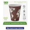 World Art Renewable & Compostable Insulated Hot Cups -8oz., 40/PK, 20 PK/CT