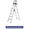 Cosco Signature Series Aluminum Folding Step Ladder w/Leg Lock & Handle, 8 ft, 6-Step