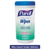 PURELL Hand Sanitizing Wipes, 5 7/10 x 7 1/2, Fragrance Free, 40/Canister