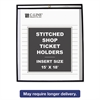 "C-Line Shop Ticket Holders, Stitched, Both Sides Clear, 75"", 15 x 18, 25/BX"