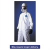 DuPont Tyvek Elastic-Cuff Hooded Coveralls, HD Polyethylene, White, Large, 25/Carton