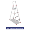 Louisville #566 Folding Aluminum Euro Platform Ladder, 4-Step, Red