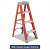 "Louisville Fiberglass Heavy Duty Step Ladder, 50"", 3-Step, Orange"