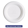"Renewable & Compostable Sugarcane Plates, 6"", 1000/Carton"