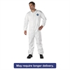 DuPont Tyvek Elastic-Cuff Coveralls, HD Polyethylene, White, X-Large, 25/Carton