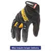 SuperDuty Gloves, Medium, Black/Yellow, 1 Pair