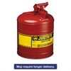 Justrite Safety Can, Type I, 5gal, Red