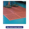 Pro Lite Four-Way Drain Mat, 36 x 60, Terra Cotta