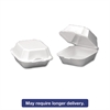 Foam Sandwich Container, Large, 1-Comp, 5 5/8 x 5 3/4 x 3 1/4, White, 500/Carton
