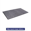 Tire-Track Scraper Mat, Needlepunch Polypropylene/Vinyl,36 x 60,Gray