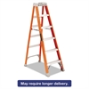 "Louisville Fiberglass Heavy Duty Step Ladder, 73 3/5"", 5-Step, Orange"