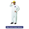 DuPont Tyvek Coveralls, Open Wrist/Ankle, HD Polyethylene, White, Large, 25/Carton